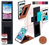 reboon Hülle für Oppo Neo 3 Tasche Cover Case Bumper | Braun Leder | Testsieger
