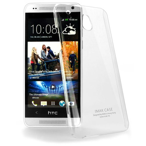 Imak Crystal Transparent Flip Thin Hard Bumper Back Case Cover For HTC One Mini M4  available at amazon for Rs.299