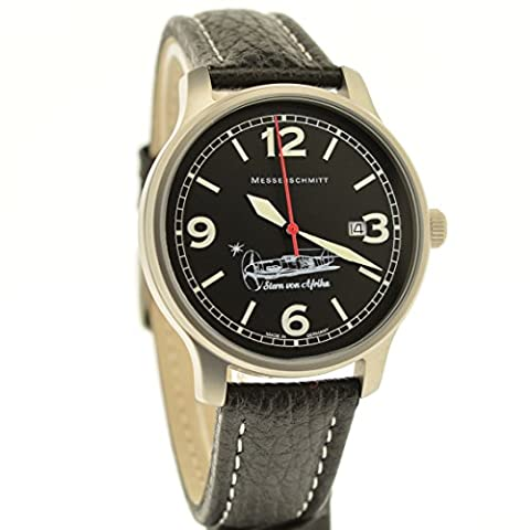 Messerschmitt Star of Africa Quartz ME-42Stern Aviator Watch Ronda Swiss