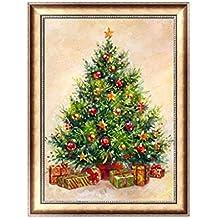 Dchaochao Árbol de Navidad DIY 5D pintura de diamante, broca completa bordado punto de cruz