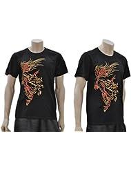 Camiseta Dragón Bordado 4 - Negro, 1m90