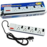 Marshal 9 Metres Universal Power Strip With Fuse, Individual Switches And Indicators