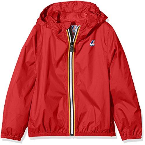K-way vrai 3.0 claude, giacca impermeabile bambino, rosso, 128 (taglia produttore:8y)