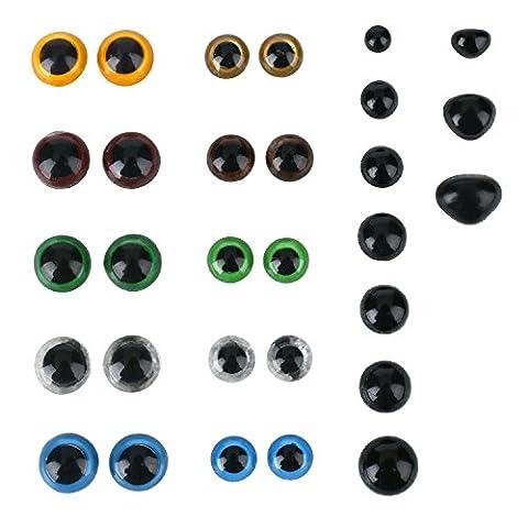 Soledì 360yeux et nez faux colorés yeux Nez Poupées Set pour petits boulots créatifs occhietti fous en plastique bricolage