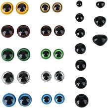 Soledì 360 - Ojos y narices falsos de colores para muñecas - Juego para manualidades creativas