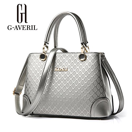 G-AVERIL, Borsa a mano donna Red Wine Silvery
