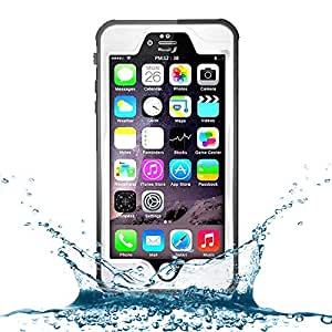 iPhone 6 Waterproof Case, Caka [Newest Version] Full-body Underwater Waterproof Snowproof Shockproof Dust-proof Durable Full Sealed Protection Case For iPhone 6 4.7 inch - (White)