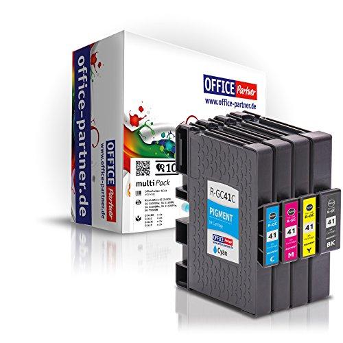 10er multiPack kompatible Druckerpatronen mit Chip zu Ricoh GC41 für Ricoh SG 2100N SG 3110 Gel Tinte
