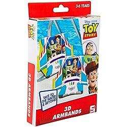 Sambro DTS-3394 - Schwimmflügel mit 3D Effekt, Toy Story Motiv mit Woody und Buzz Lightyear, für Kinder von 3 bis 6 Jahren, mit Sicherheitsventil, ideal für Pool, Strand und Schwimmbad