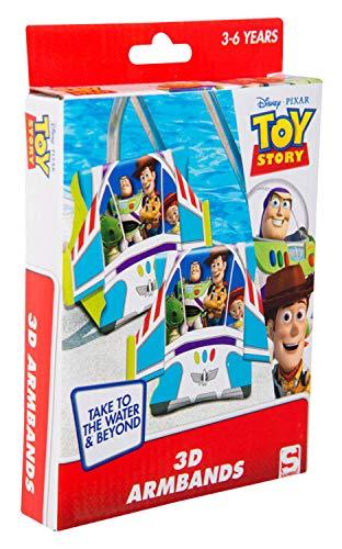 (Sambro DTS-3394 - Schwimmflügel mit 3D Effekt, Toy Story Motiv mit Woody und Buzz Lightyear, für Kinder von 3 bis 6 Jahren, mit Sicherheitsventil, ideal für Pool, Strand und Schwimmbad)