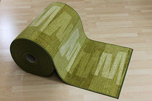 Teppich läufer grün  Teppich Läufer Nizza Grün Velour 80 cm breit Größe 10 x 10 cm ...