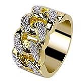 Toamen Los Hombres Y Las Mujeres Electrochaban El Anillo De Bodas De Oro Del Anillo De Diamante De La Boda (Tamaño: 11, oro)