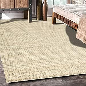 Designer Abstract & Geometric Modern Carpet for Living Area (White)