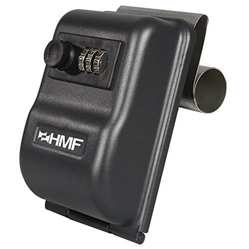 HMF 303-02 Schlüsseltresor fürs Auto Zahlenkombinationsschloss, 14,5 x 10,0 x 5,7 cm , schwarz
