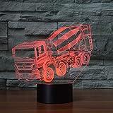 Mzdpp 7 Farben Ändern Nachtlicht 3D Led Mixer Auto Tisch Schreibtischlampe Kinder Nacht Schlaf Mischer Lkw Beleuchtung Weihnachten Geschenke Dekor