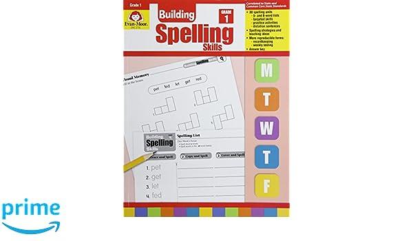 Building Spelling Skills: Grade 1: Amazon it: Evan-Moor