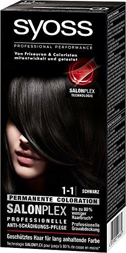 Syoss Haarfarbe, 1-1 Schwarz, 3er Pack (3 x 115 ml)