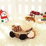 Berrose Weihnachtssüßigkeit Lagerung Korb Dekoration Weihnachtsmann-Lagerung Geschenk Korb-Weihnachten Süßigkeiten -Halloween -Weihnachtshaus Tischdekoration Schneemann Frucht Candy Ornament