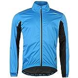 Muddyfox Mens Pure Waterproof Jacket Top Coat Lightweight Print High Neck Zip Blue/Black XXL