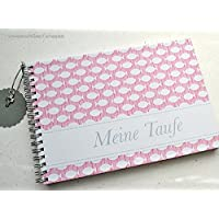 Gästebuch Taufe DIN A5 Fische rosa