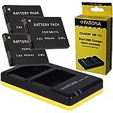 Dual Cargador + 3x Bateria para Canon NB-11l para Canon PowerShot SX400 SX410 IS A4000 A3400 A3500 A2600 A2400 A2500 A2300 -- IXUS 125 127 132 135 140 145 155 160 165 170 240 265 275 HS --- ELPH 110