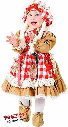 Fancy Me Italian Made Mädchen Deluxe Vogelscheuche Karneval Buch Tag Woche Halloween Kostüm Kleid Outfit 0-3 Jahre - 1 Year