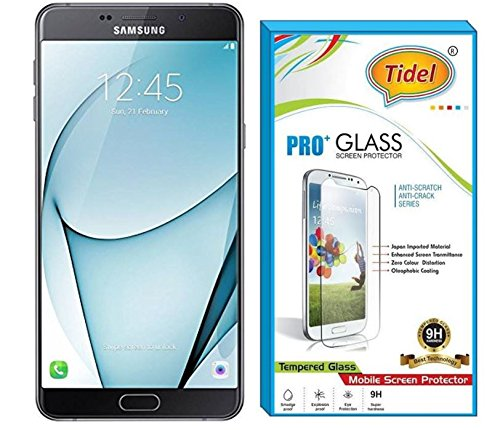 Tidel Tempered Glass Screen Protector Film Guard For for Samsung Galaxy A9/A9 pro Anti-Explosion With All Finger Print Sensor,Camera Cutting