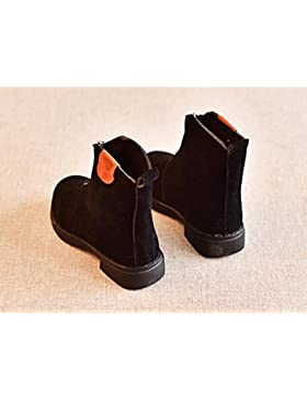 HGTYU-Las chicas nuevas botas de invierno Martin botas y botas la versión coreana de la marea de la Princesa negro...