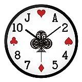 """Reloj de pared personalizado de Poker salón dormitorio ideas silencio minimalista moderno reloj reloj de cuarzo reloj de mesa en mesa 12"""""""