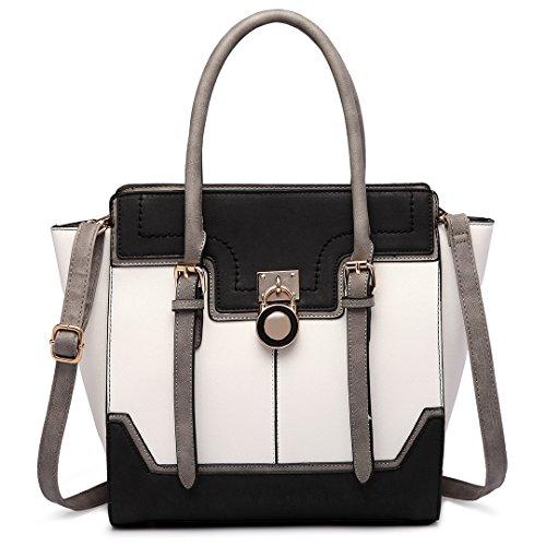 Miss Lulu , Damen Tote-Tasche 1702 Black