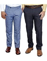 IndiWeaves Combo Offer Mens Formal Trouser (Pack Of 2) - B01JRWBYO2