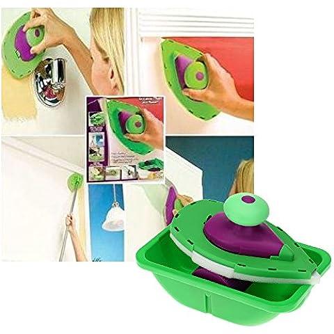 mebare (TM) nuevo rodillo de pintura y bandeja Set pintura cepillo punto N pintura hogar decorativo Herramienta fácil de usar