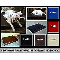 "Zippy EXTRA LARGE BLACK Faux Leather Heavy Duty Mattress Dog Bed - Deep Reflex Matress - Size 50"" x 40"" x 4''"