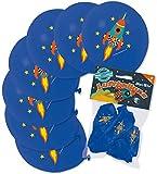 8 Luftballons * RAKETE * als Weltraum-Deko für Kindergeburtstag oder Mottoparty von Lutz Mauder // 66028 // Party Kinder Party Ballon