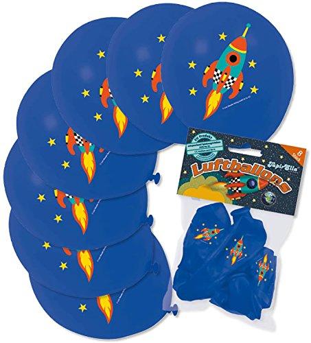 8 Luftballons * RAKETE * als Weltraum-Deko für Kindergeburtstag oder Mottoparty von Lutz Mauder // 66028 // Party Kinder Party - Raketen-luftballons
