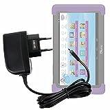 DURAGADGET Cargador (2 Amperios) para Cefatronic - Tablet Clan Motion Pro - con Conexión Micro USB...