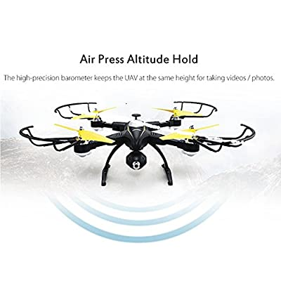 POBD RC Drone FoldableWiFi FPV VR Quadcopter with 2MP/720P HD Camera 2.4Ghz 4CH 6-Axis Gyro Remote Control Helicopter