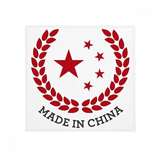 DIYthinker Hecho en China Estrellas de Trigo arroz Rojo Antideslizante Suelo Pet Square Mat Baño Sala Cocina Puerta 60 / 50Cm Regalo 50X50Cm