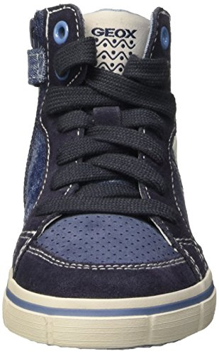 Geox Jr Kiwi Boy D chaussure jean Bleu (Lt Jeans/Navy)