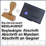 Anwalts-Stempel-Set 5-tlg. + Stempelkissen