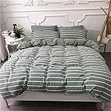 BFMBCH New Home Schlafzimmer liefert Gewaschene Baumwolle vierteilige Druck Doppelbett Einzelbettbezug L 220cm * 240cm