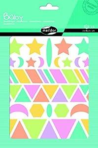 Maildor Ocio creativo–Pegatinas Baby - Formato grande para niños pequeños