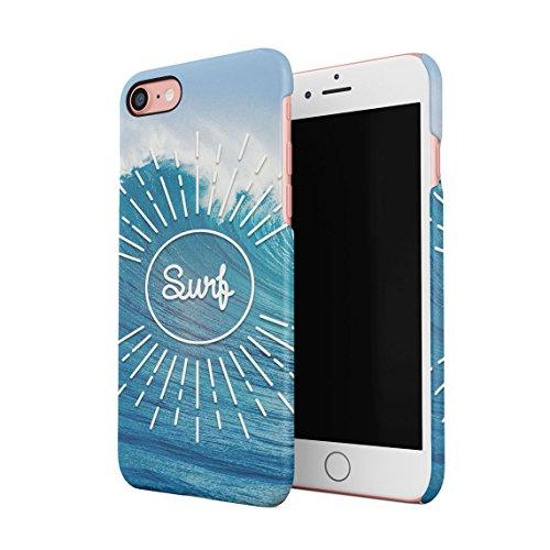 Surf Windsurfing Jetsurfing Beach Ocean Waves Tidal Wave Dünne Rückschale aus Hartplastik für iPhone 7 & iPhone 8 Handy Hülle Schutzhülle Slim Fit Case Cover Handy Snap Case