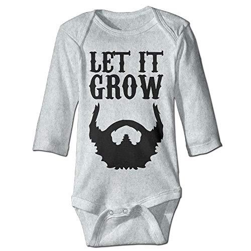 Unisex Newborn Bodysuits Let It Grow Beard Boys Babysuit Long Sleeve  Jumpsuit Sunsuit Outfit Ash b0cf461fc