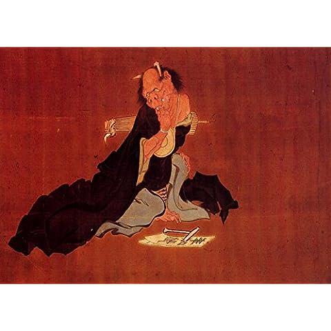 HOKUSAI 'DIABLO' 18 de siglo 19 Japón Reproducción sobre Calidad 250gsm de espesor en Cartel A3 Tarjeta