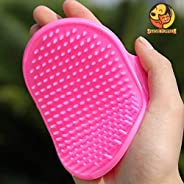 Foodie Puppies Pet Shampoo Brush | Soothing Massage Rubber Bristles Curry Comb for Dogs & Cats Washing | P