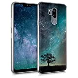 kwmobile LG G7 ThinQ/Fit/One Hülle - Handyhülle für LG G7 ThinQ/Fit/One - Handy Case in Blau Grau Schwarz