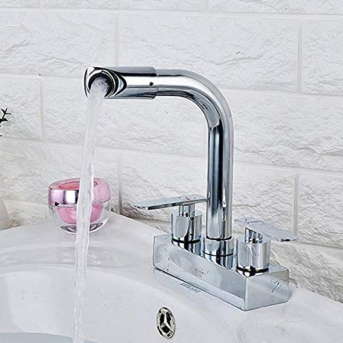ZCYJL Waschtischmischer Heißes und kaltes wasser wasserhahn_waschbecken wasserhahn heißes und kaltes doppel loch wasserhahn über aufsatzbecken wasserhahn Wir freuen uns auf Ihren Besuch.