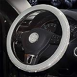 Couverture de volant en cuir pour voiture Couverture en cristal Couverture de voiture Accessoires intérieurs auto Cache-roue pour filles