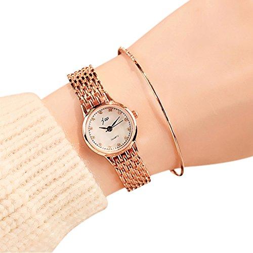 Uhren Damen Armbanduhr Frauen Vorwahlknopf-zarte Uhr Quarz Analog Klassisch Uhren Handgelenk Kleine Luxusgeschäfts Uhren Standuhren,ABsoar